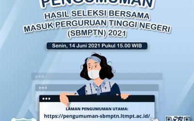 Announcement: UNDIP 2021 SBMPTN Result